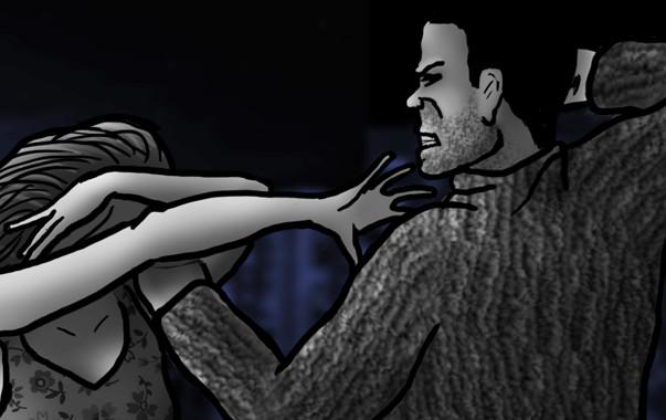 Masha es maltratada por su marido.