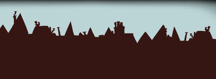 Tejados de las casas de Londres.